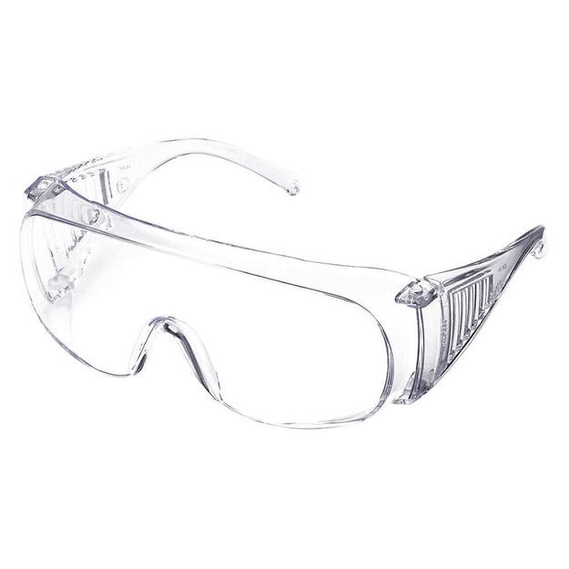 Product Detail - JULONG Clear Lenses Frameless Safety Glasses Uncoated Lenses Clear Plastic Frame Size Universal Over the Glasses - image 0
