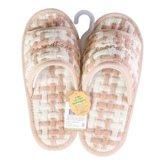 韩国COORDIANS 防滑透气可洗家用室内拖鞋 100%全棉 #棕色 25cm~27cm