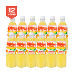 【Value Set】CALPICO Mango Naturally Artificially Flavored Non Carbonated Soft Drink 500ml  Pack of 12