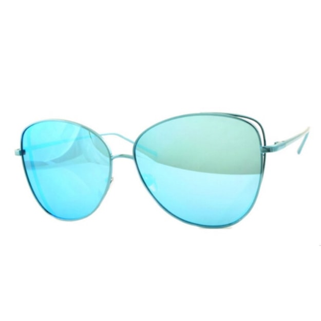 Product Detail - RETRO POP Fashion Sunglasses 7258 Blue Frame/Blue Mirror - image 0