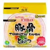 SAPPORO ICHIBAN Japanese Tonkotsu Ramen 5 Packs