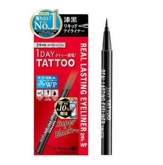 K-PALETTE 1 DAY TATTOO Real Lasting Super Sharp Eyeliner Dark Black 1pc