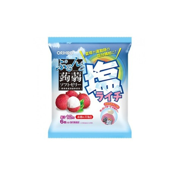Product Detail - ORIHIRO Prun and Konjac Jelly Pouch Salt Lychee 6pcs  Exp. Date: 01-2021 - image  0