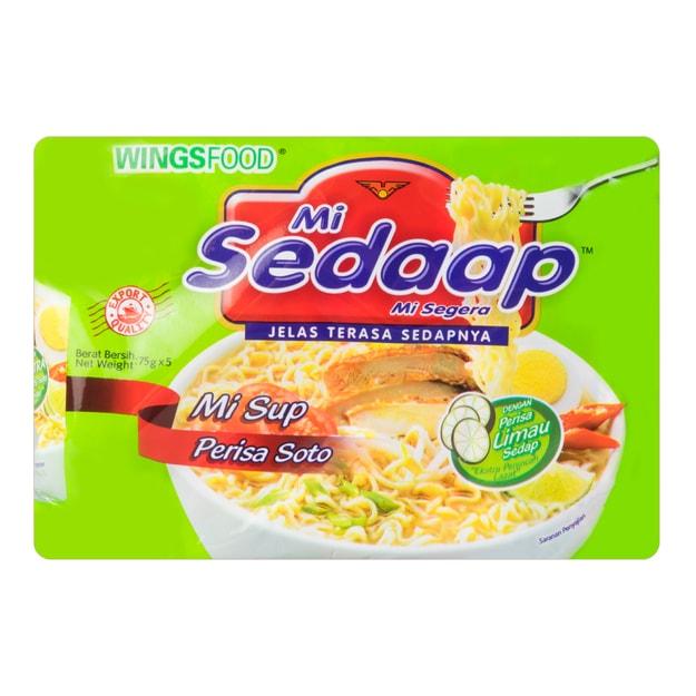 商品详情 - 印尼MI SEDAAP喜达 柠檬酸汤面 五连包 365g - image  0