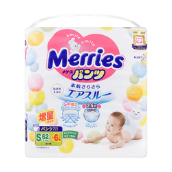 【New】MERRIES Baby Pant Diaper for Boy and Girl S 4-8 kg 68pcs