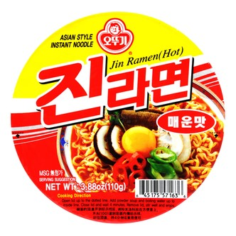 韩国OTTOGI不倒翁 金拉面 碗装 110g