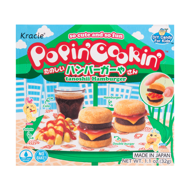 KRACIE Popin Cookin DIY Gummy Hamburger Store Kit 32g