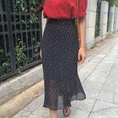 CHERRYKOKO Tall waist skirt black free