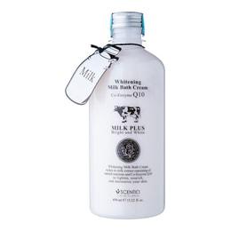 SCENTIO MILK PLUS Whitening Milk Bath Cream Co-Enzyme Q10 450ml