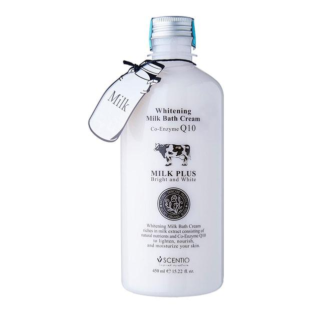 Product Detail - SCENTIO MILK PLUS Whitening Milk Bath Cream Co-Enzyme Q10 450ml - image 0