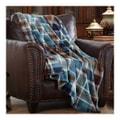 MERRYLIFE单层毛毯 柔软保暖摇粒绒  蓝格子  60'' 90'' 四季通用