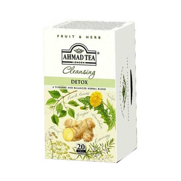 商品详情 - 英国亚曼AHMAD TEA 排毒生姜草本茶 20包入 - image  0