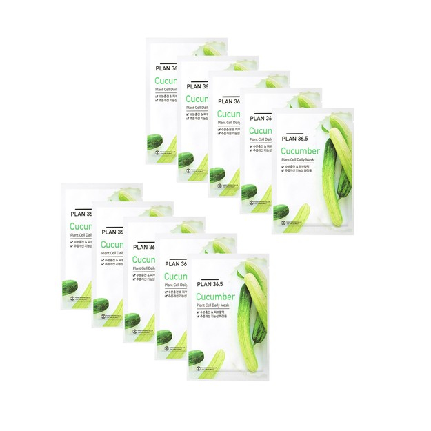 Product Detail - PLAN36.5 Cucumber Plant Cell Daily Mask 10pcs - image 0