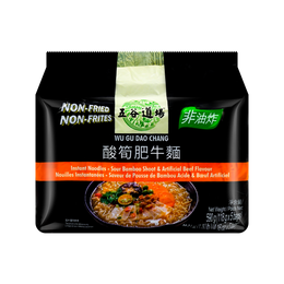 Instant Noodles-Sour Bamboo Shoot & Artificial Beef Flavour (Bag) 118g*5Bags
