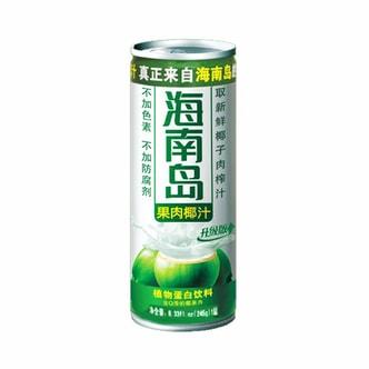 海南岛果肉椰汁植物蛋白饮料 不含色素防腐剂 245ml 升级版