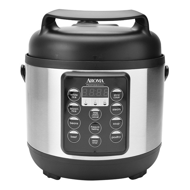 Product Detail - Aroma Housewares Digital Professional Pressure Cooker 3QT 6-Cup Uncooked/12-Cup Cooked APC-816SB - image 0
