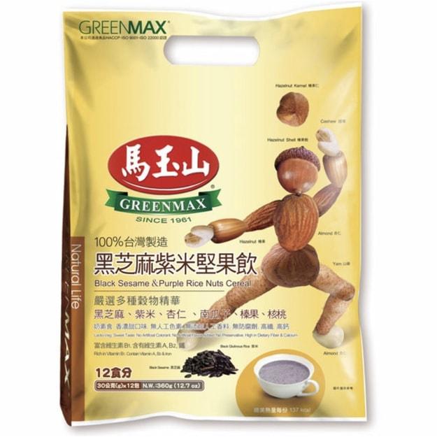 商品详情 - 台湾马玉山 黑芝麻紫米坚果饮 12包入 360g - image  0