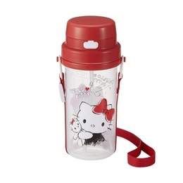 OSK Hello Kitty One Press Water Bottle With Straw and Strap for Toddles and Kids 370ml