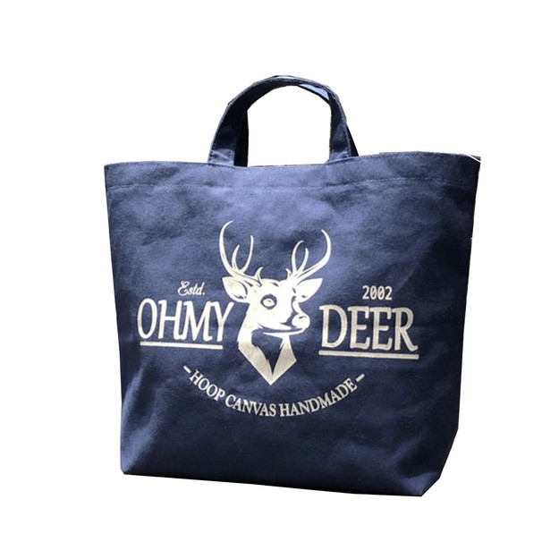 Product Detail - Hoop Eco-friendly Reusable Canvas Bag #Ohmydeer - image 0