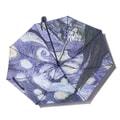中国专线直邮 时效5-12天TIMESWOOD女士户外三折晴雨伞黑胶防紫外线遮阳伞 梵高星空内印 紫色 1件