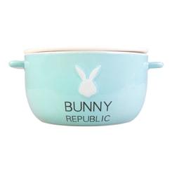 KINGBIRD Cute Fashion BABYBLUE Bunny Ceramics Bowl BUNNY REPUBLIC Microwave Safe
