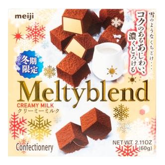 日本MEIJI MELTY 雪吻牛奶夹心巧克力 60g 冬季限定