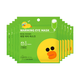 MEDIHEAL X LINE FRIENDS Warming Eye Mask Citrus 10pcs