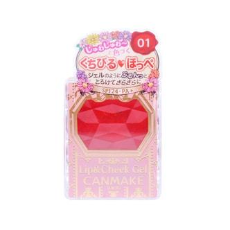 日本CANMAKE井田 泛红双效胭脂唇膏 #01草莓慕斯 单件入