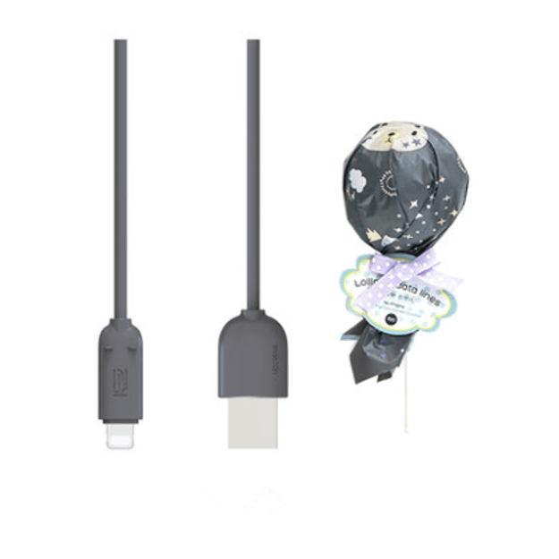 Product Detail - MAOXIN Lollipop Model iPhone Data Cable/Charging Cable Black - image 0