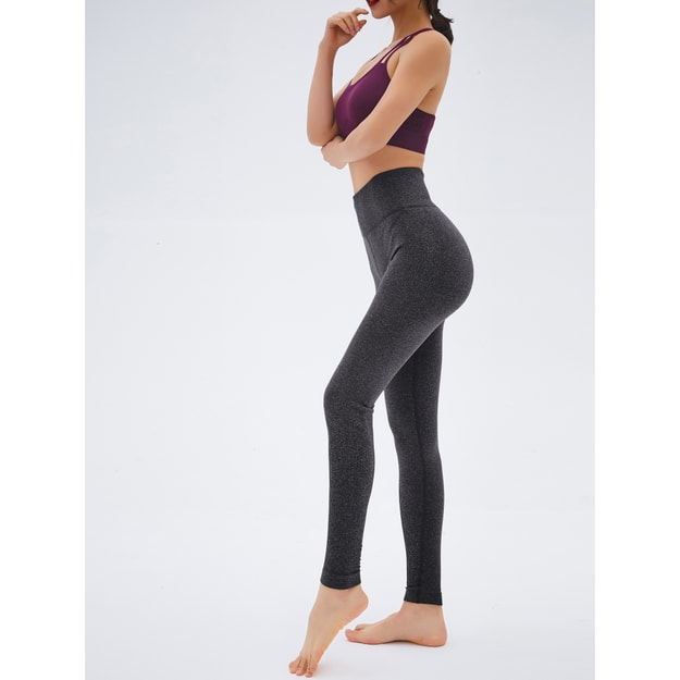RUNNING STONE Yoga Compression Tights #Gray S