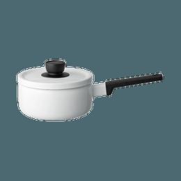 FUJIHORO||Solid 纯色单柄家用奶锅||白色 18cm 1个