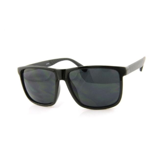 商品详情 - RETRO POP 时尚太阳镜 26009 黑色镜框/灰色镜片 - image  0