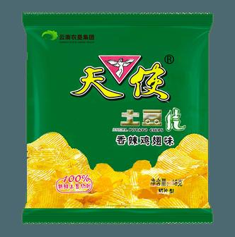 天使 土豆片 香辣鸡翅味 18g