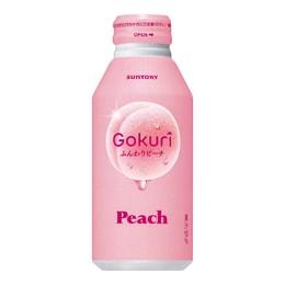 日本SUNTORY三得利 水蜜桃汁果肉果汁饮料 季节限定 400ml