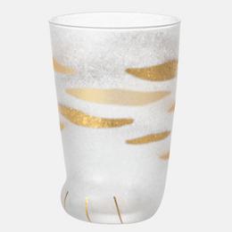 ISHIZUKA GLASS 石塚硝子||ADERIA coconeco premium可爱猫爪玻璃杯||虎纹图案 1个