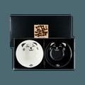 """日本 日式可爱黑白猫咪 饭碗套组 2件入 黑猫白猫碗各一 6"""" D x 2.75"""" H BH56-HN"""