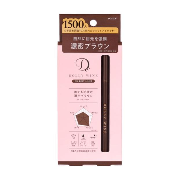 商品详情 - 日本 KOJI 蔻吉 DOLLY WINK 防水极细持久液体眼线液笔 深棕色 1pcs - image  0