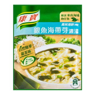 台湾康宝 风味海鲜系列 银鱼海带芽浓汤 37g