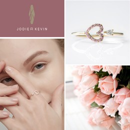 JODIE&KEVIN LOVE 925 Silver Heart Ring 1 Piece