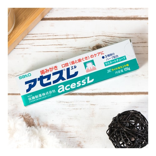 Sato Acess L Japanese Toothpaste For Oral (Teeth & Gums) Care 125g