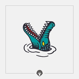 @BECOME Original Tattoo Stickers crocodile One Piece