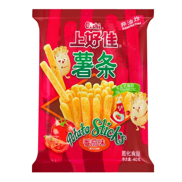 Product Detail - OISHI Tomato Sticks Ketchup Flavor 40g 0g Trans Fat - image 0