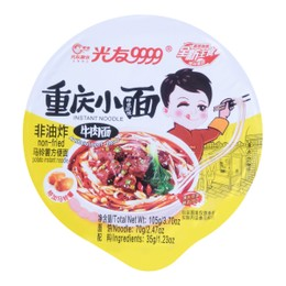 GUANGYOU Spicy Hot Noodles Artificial Beef Flavor 105g
