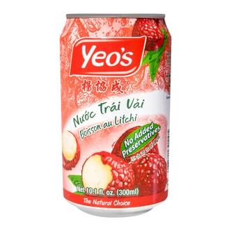 新加坡YEO'S杨协成  荔枝汁  罐装  300ml