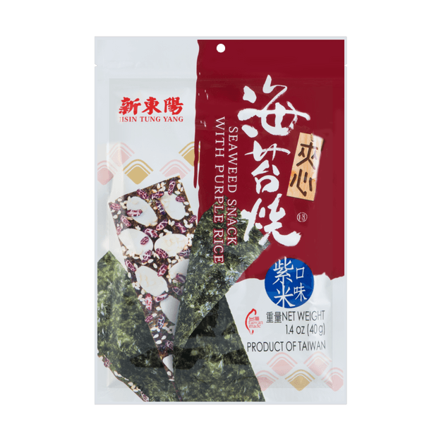 Product Detail - HSIN TUNG YANG Seaweed Snack with Purple Rice 40g - image 0
