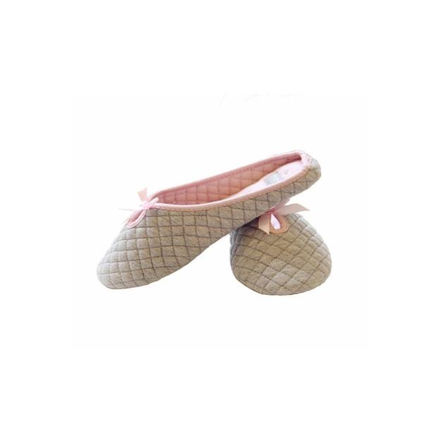 商品详情 - Premium Down芭蕾舞全棉室内家居拖鞋 灰色 5-6码 - image  0