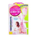 日本SLIM WALK 短款美腿五指袜 粉色 S-M 1件入