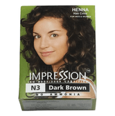 IMPRESSION Henna Hair Color #N3 Dark Brown 6 packs/Box