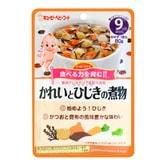 日本KEWPIE丘比 宝宝辅食 比目鱼羊栖菜蔬菜炖鱼袋装辅食 80g 9M+