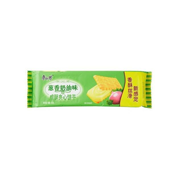 商品详情 - 【加拿大直发】康师傅 咸酥夹心饼干(葱香) 80g - image  0